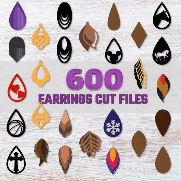 Huge Earrings SVG Bundle