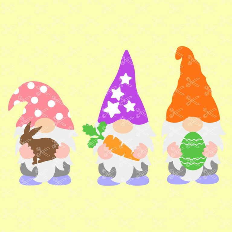 Easter Garden Gnomes SVG
