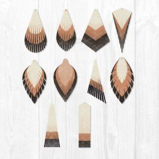 Leather Earring Teardrop Cut File