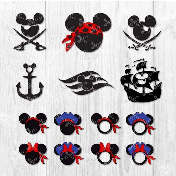 Minnie and Mickey Pirate SVG