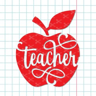 Teacher Apple Quotes SVG
