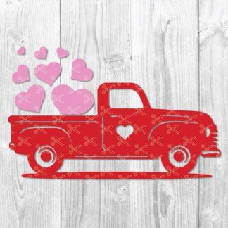 Valentine Truck SVG File