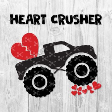 Valentines Truck SVG