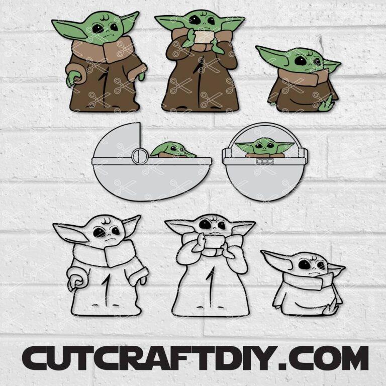 Baby Yoda SVG Clipart
