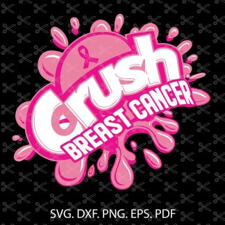 Crush Cancer SVG