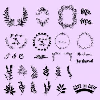 Flower Wreath SVG