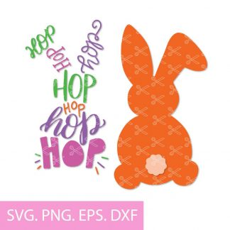 Hip hop bunny svg