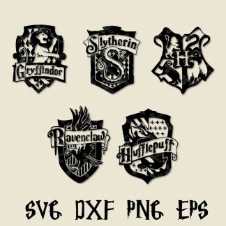 Harry Potter SVG Crests