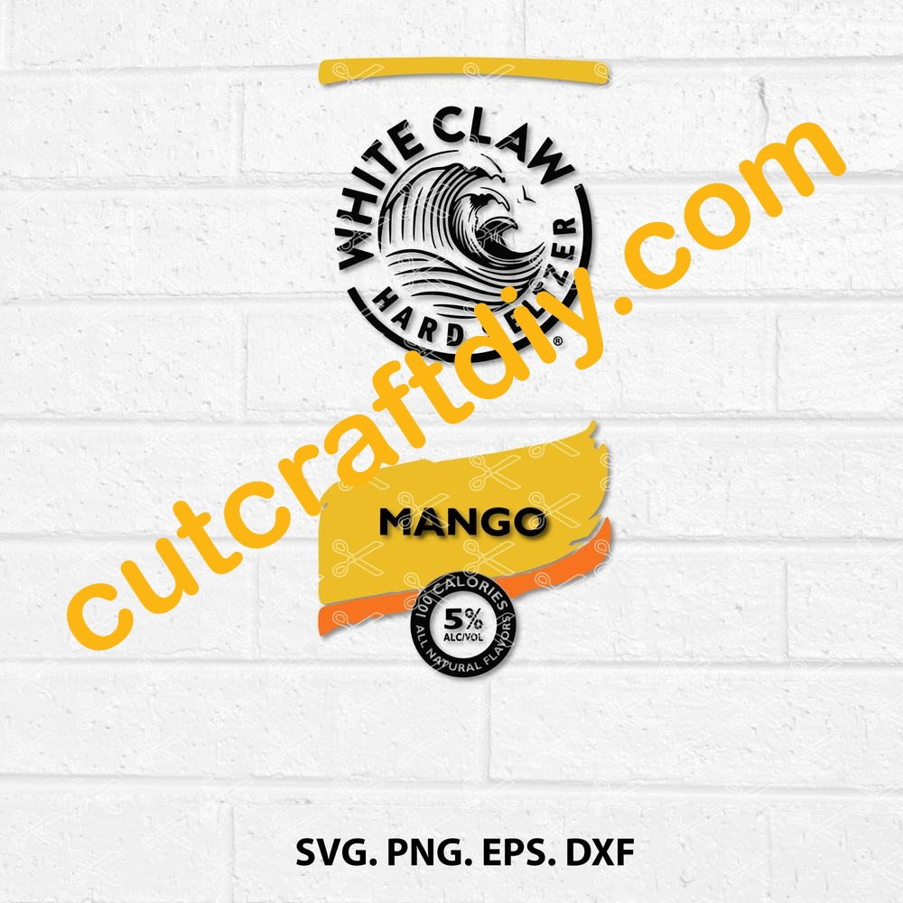 White Claw Mango Hard Seltzer Svg Png Dxf Eps Cutting Files High Quality Premium Design