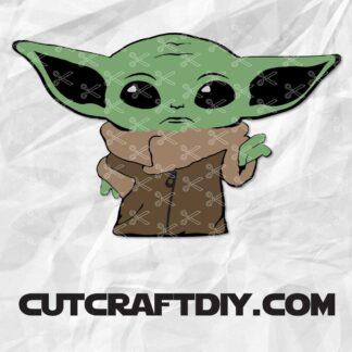 Yoda Clipart Baby Yoda Svg