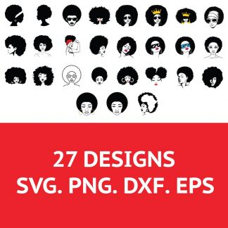 Afro Woman SVG File
