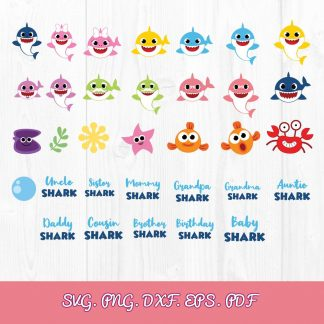 Baby Shark SVG File 324x324 - Baby Shark Birthday SVG Bundle, PDF, PNG, EPS, Cut Files