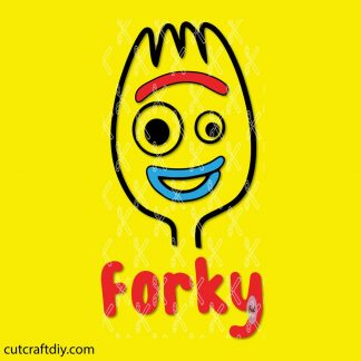 FORKY SVG CUT FILE