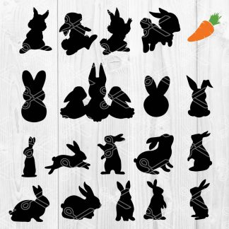 Rabbit SVG Cutting File