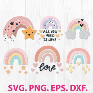 Rainbow SVG File