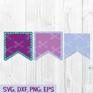 Scalloped bunting banner svg