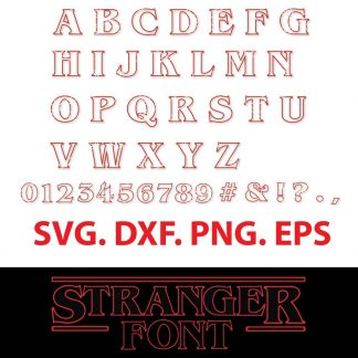 Stranger Things Alphabet Font SVG