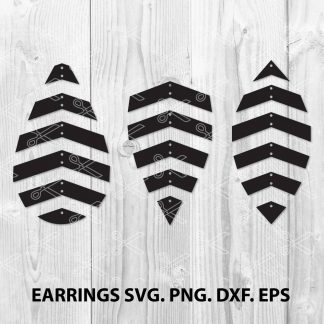 Geometric earring SVG Cut File