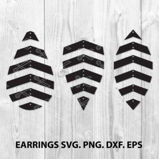 Geometric earring SVG Cut File