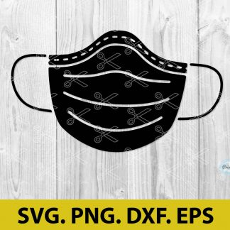 Medical Mask SVG Cut File