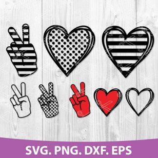 Peace Love SVG