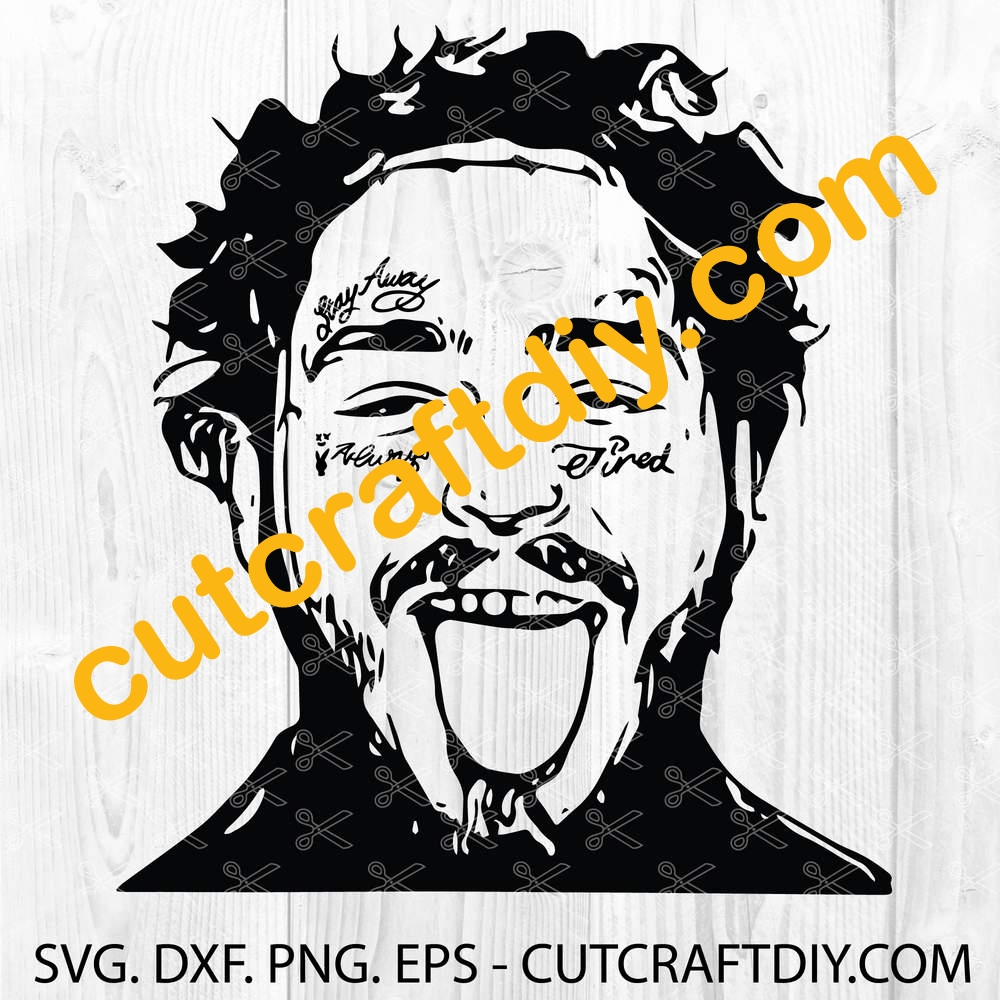 Post Malone Svg Png Eps Dxf Cutting Files Digital Files
