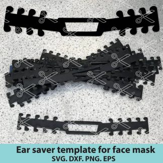 Surgical Mask Strap Template
