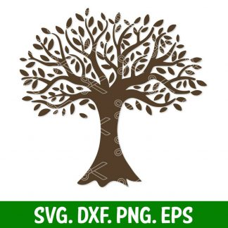 Tree Svg Dxf Png Eps Cut Files Family Tree Svg High Quality Premium Design