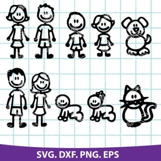 Stick Family SVG