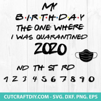 BirthBirthday 2020 The One Where They Were Quarantined SVGday 2020 The One Where They Were Quarantined