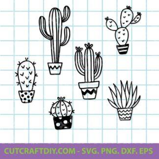 Cactus SVG Bundle Cut File 324x324 - Cactus SVG, DXF, PNG, EPS, Bundle, Cut Files