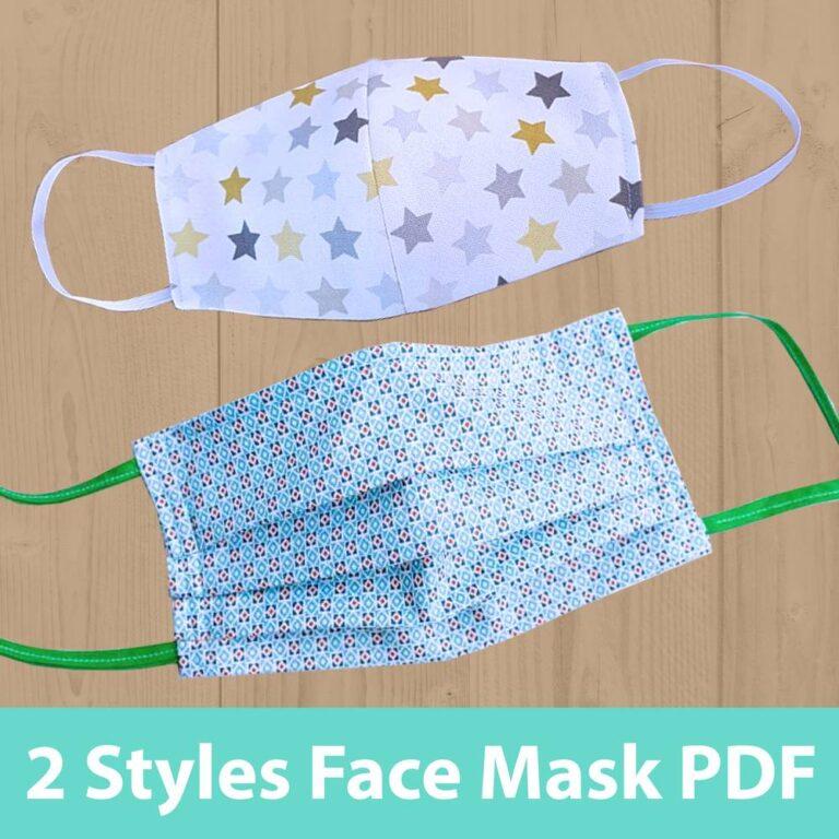 Face Mask Pattern Downloadable PDF