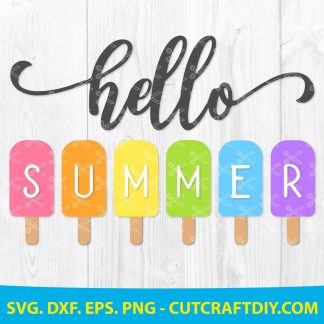 Hello Summer Popsicle SVG