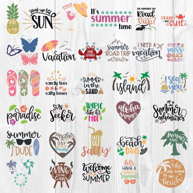 Summer Bundle SVG Clipart 1