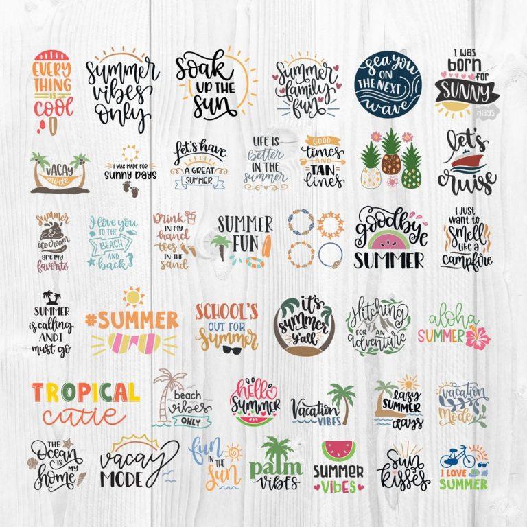 Summer SVG Cut File 1