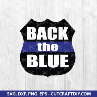 Policeman SVG - Back The Blue SVG - Police SVG