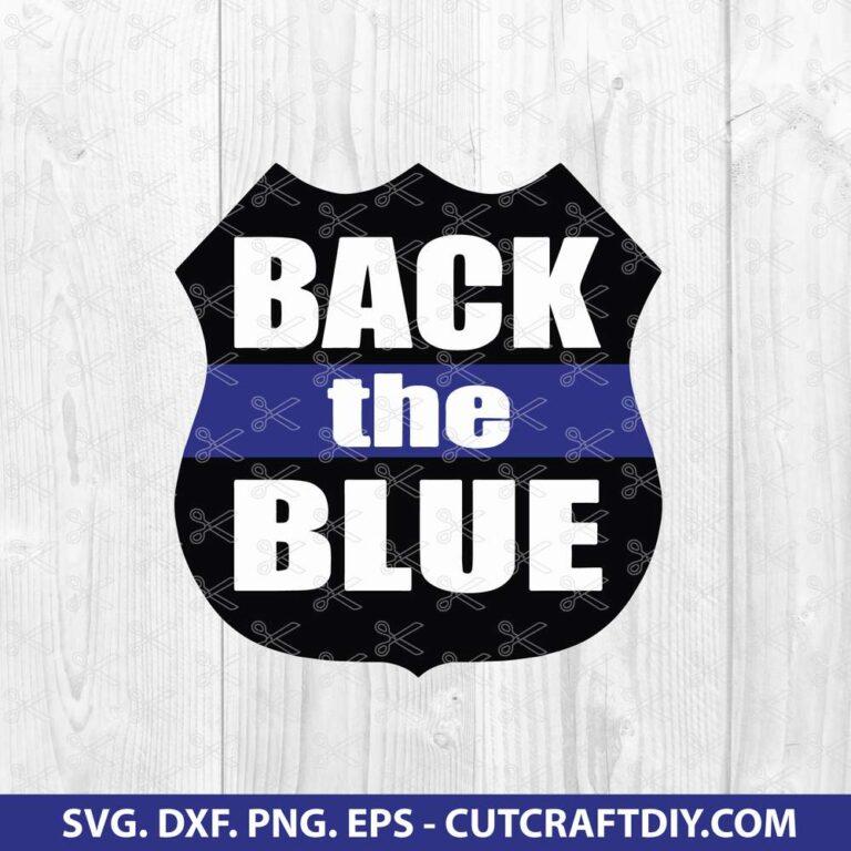Policeman SVG - Back The Blue SVG - Police SVG