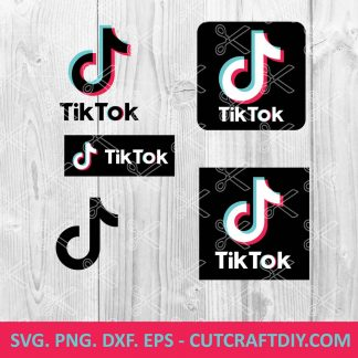 TikTok SVG Cut File
