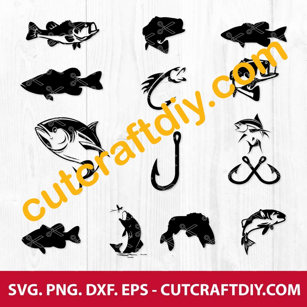 Download Fish Svg Png Dxf Eps Cuttting Files Tuna Svg Bass Fish Svg
