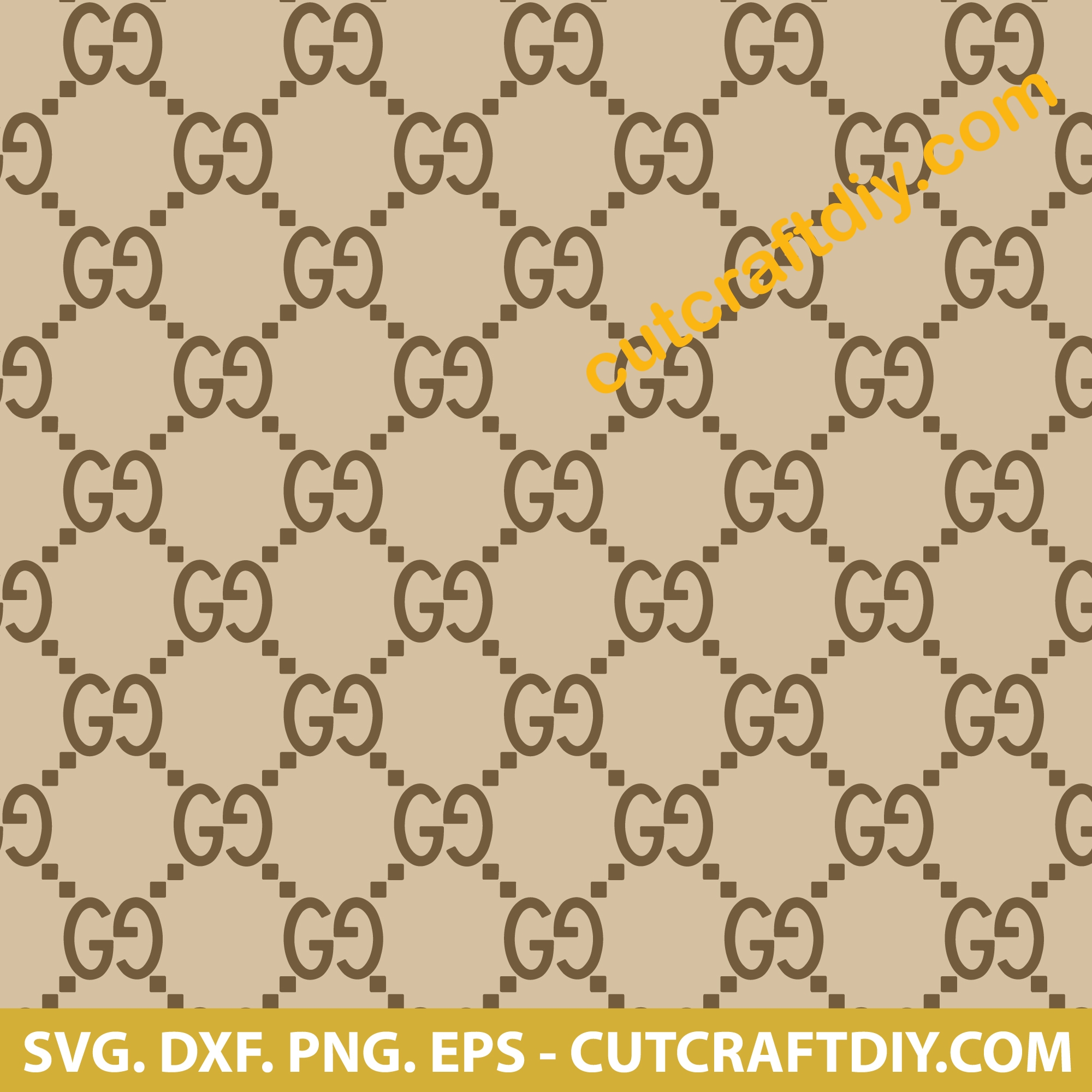 Gucci Pattern Svg Dxf Png Esp Cutting Files Gucci Svg
