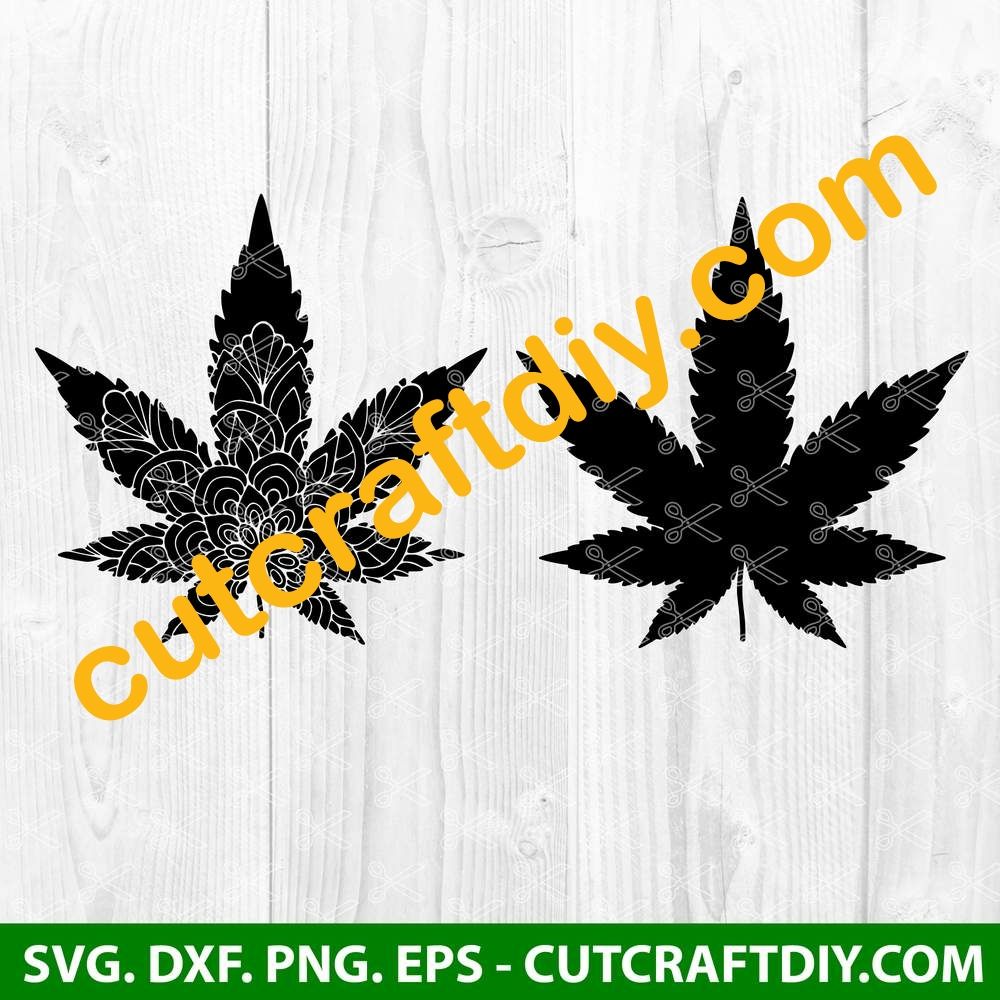 Weed Svg Cut Files Marijuana Leaf Svg Cannabis Svg