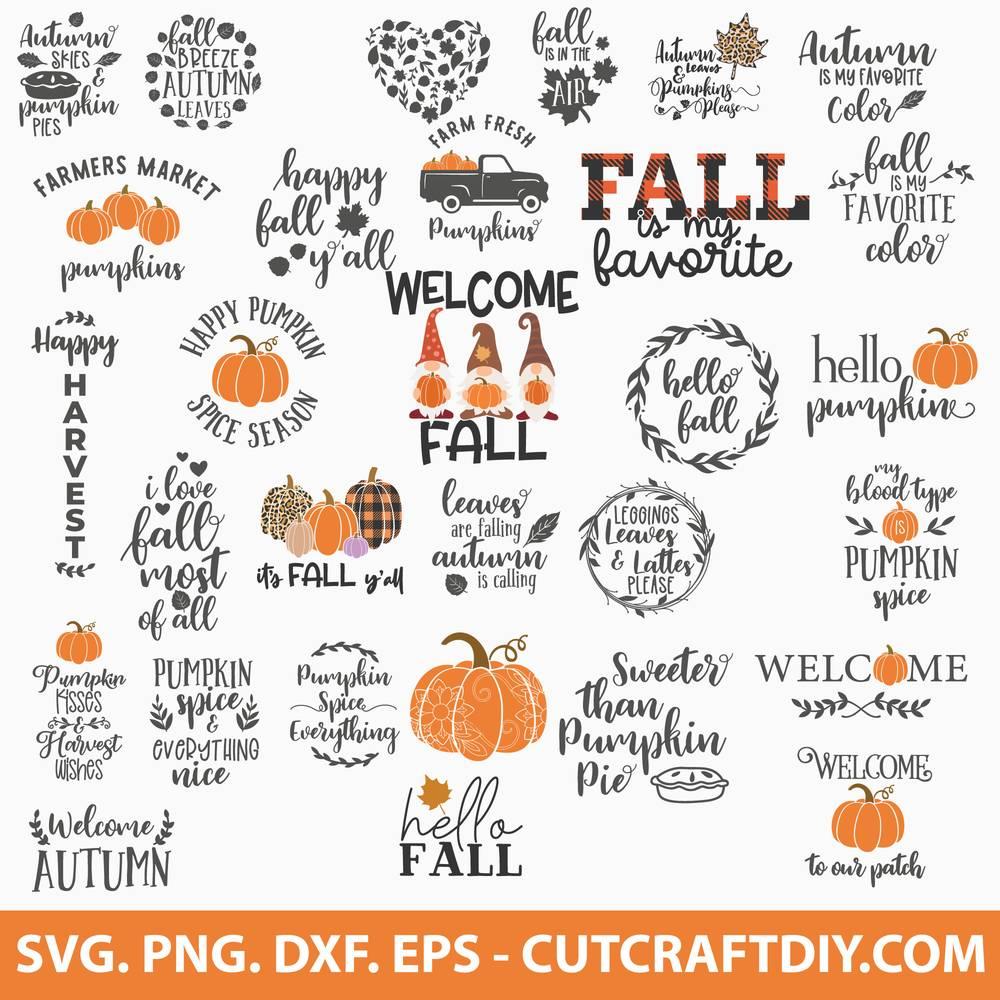 Autumn Svg Bundle Fall Svg Bundle Pumpkin Truck Svg Pumpkin Svg