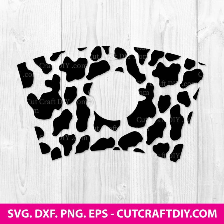 Cow Print Full Wrap for Starbucks Cold Cup SVG