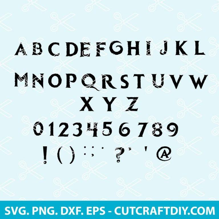 Frozen Font SVG Cut File