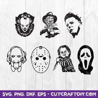 Horror Movie Killers SVG