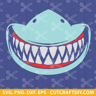 Shark teeth mask SVG