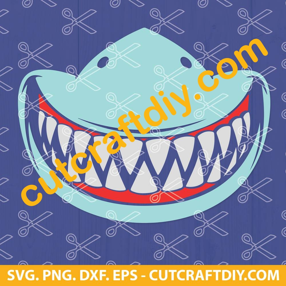 Shark Teeth Face Mask Svg Png Dxf Cut Files Shark Fangs Mask Svg