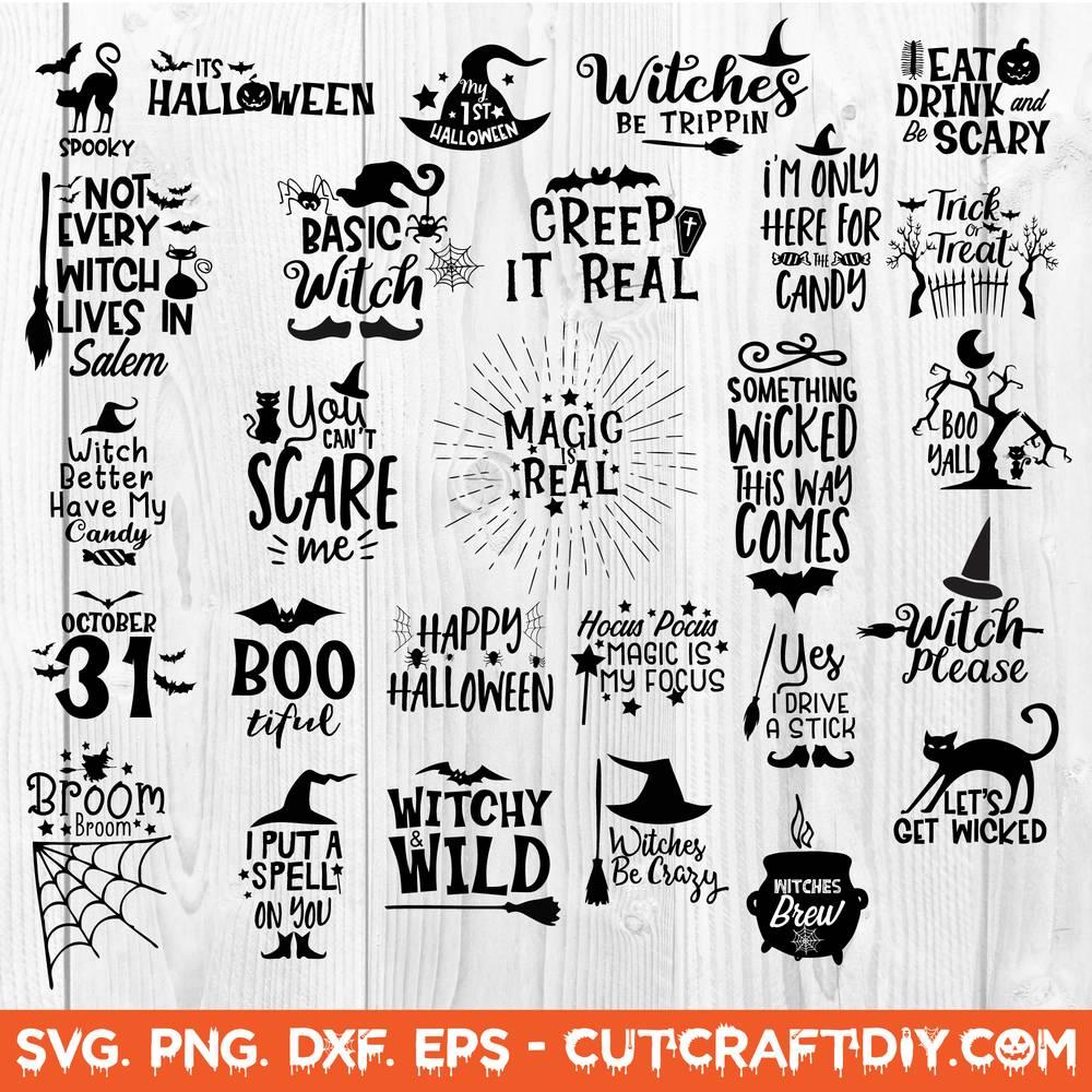Halloween Bundle Svg Dxf Png Eps Cut File Halloween Svg Bundle