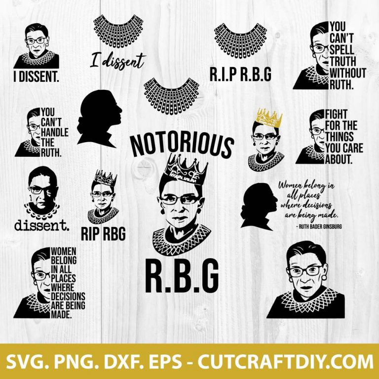 Ruth Bader Ginsburg SVG File