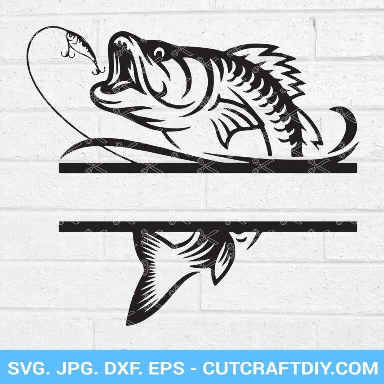 Bass split monogram SVG